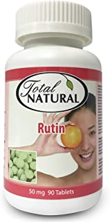 Rutin 50mg 90 Tablets [2 Bottles] by Total Natural, Anti-inflammatory, Help Absorb and Utilize Vitamin C, Improved Vascula...