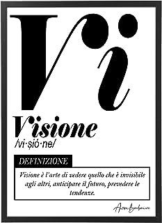 Quadro Moderno Ufficio e Casa - Visione - Cornice varie dimensioni - Motivazionale Skills Made in Italy Mod.031