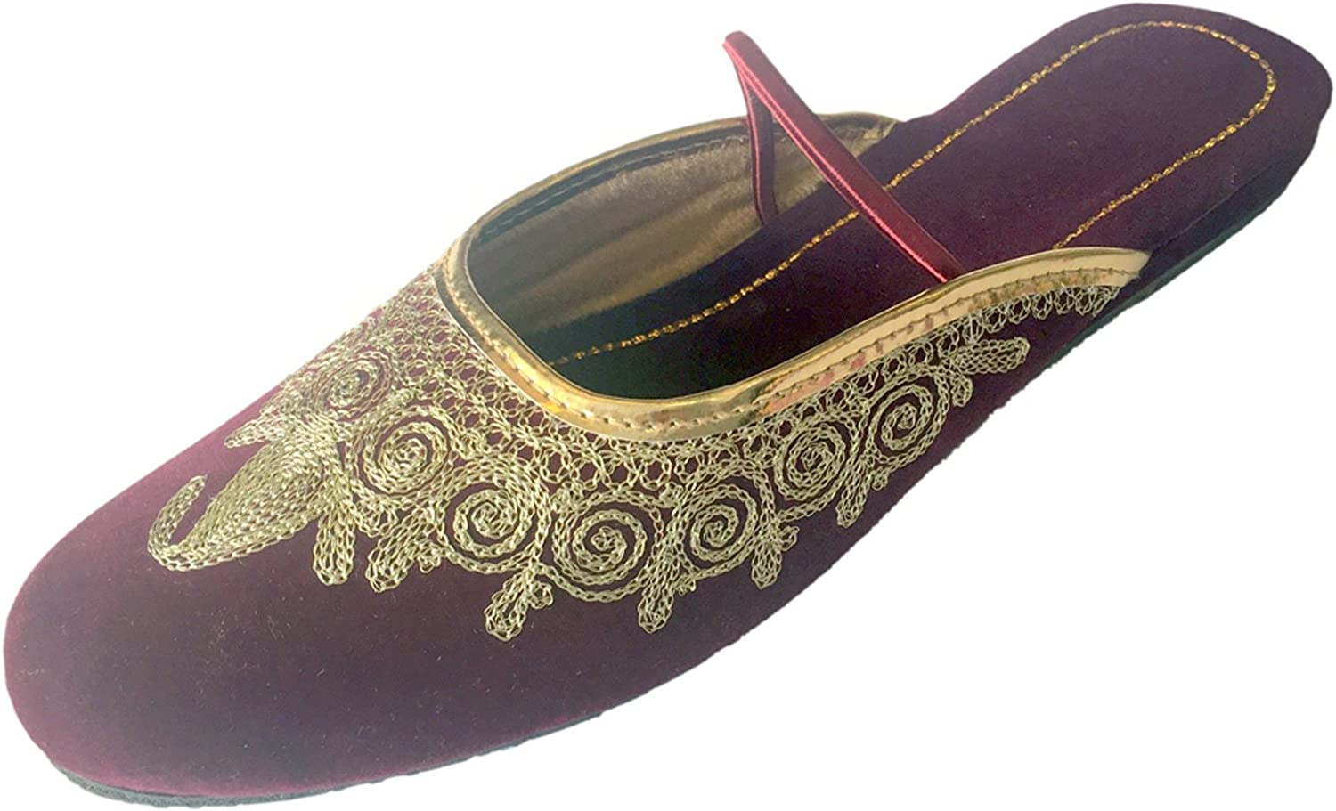 Step n Style Women Flat Khussa shoes Punjabi Jutti Back Open Traditional Mojari Loafer Pumps