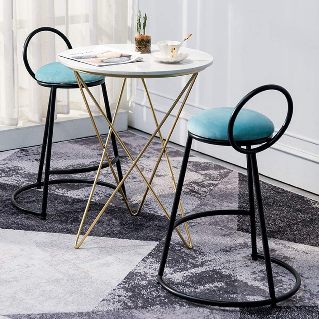 Bar Stools Set of 2 Max 87% OFF PCS Barsto Unique Ring-Shaped specialty shop Metal Backrest