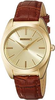 [ブルッキアーナ]BROOKIANA 天然ダイヤモンド ゴールド×ブラウンレザー BAV003-GGLBR メンズ 腕時計