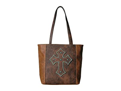 M&F Western Harper Conceal Carry Tote (Medium Brown) Handbags