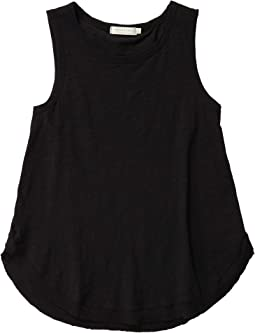 Slub Jersey Tank with Rib & Curved Hem
