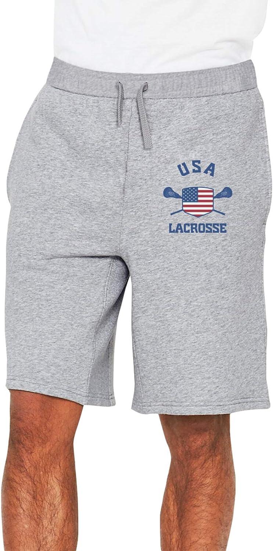 USA Flag Lacrosse Men Pants Cargo Shorts Sport Shorts