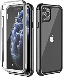 Red2Fire Designed for iPhone 11 Pro Max Case, Built-in Screen Protector 360 Degree Full-Body Rugged Clear Bumper Case for iPhone 11 Pro Max Cases Release 2019 (Black/Clear)