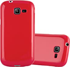 Cadorabo Case Works with Samsung Galaxy Trend LITE in Jelly RED – Shockproof and Scratch Resistant TPU Silicone Cover – Ultra Slim Protective Gel Shell Bumper Back Skin
