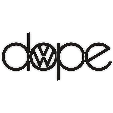 Saphir Design Vw Dope Tuning Car Sticker Logo A182 18 X 8 Cm High Performance Film In White Küche Haushalt