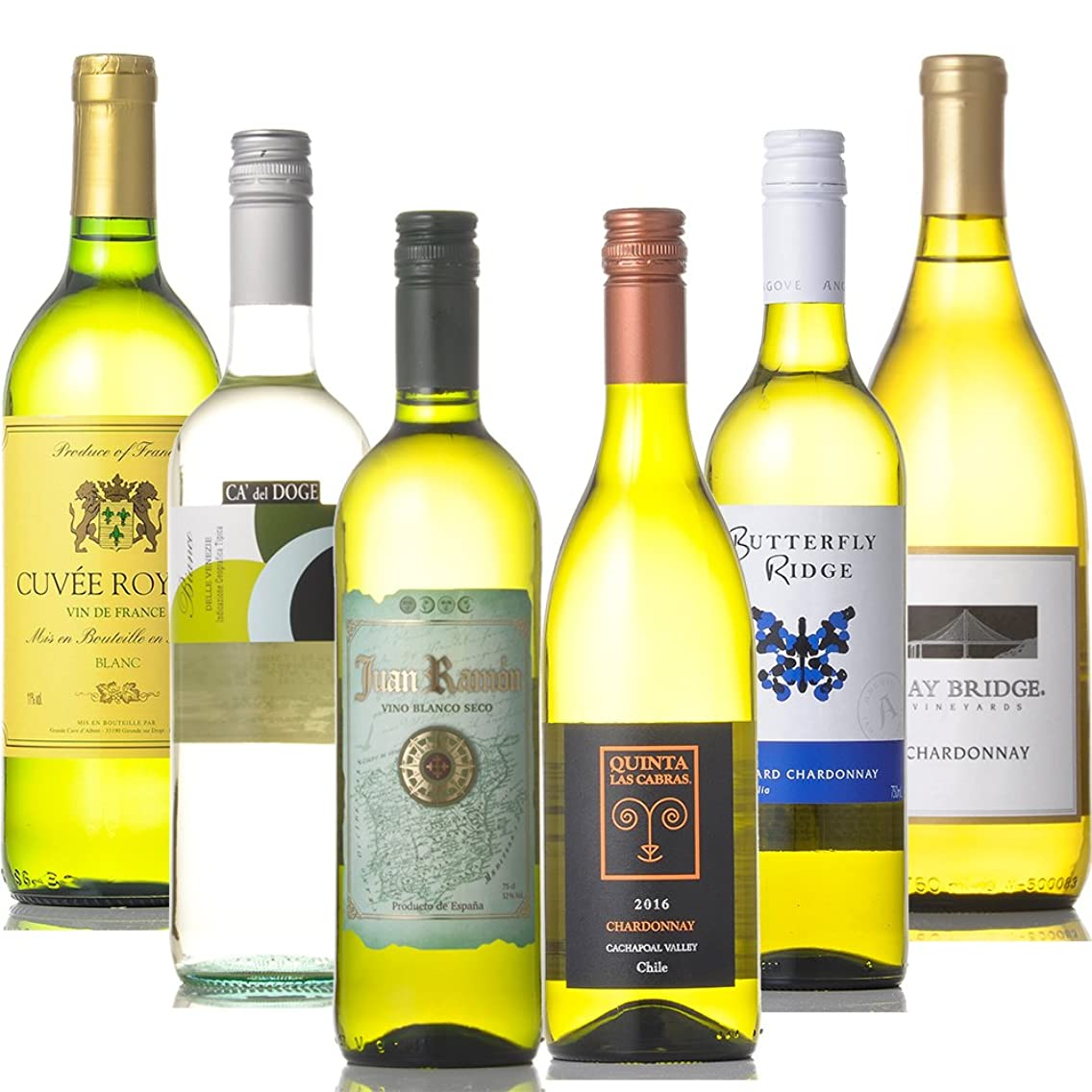 頼む緊急シールド世界の有名産地 白ワイン 飲み比べ 6本セット (750ml×6本)