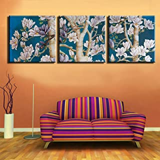 LINGBU Canvas painting,3 Pieces Wall Art Sets Flower Oil Canvas Print Painting Home Decor Picture Decoration For Living Ro...