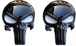 Tactical Freedom - Magwell Metal Decal/Sticker - Punisher Skull (2 Pack)
