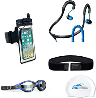 H2O Audio Universal Waterproof Smartphone Swim Pack Case Armband for iPhone Xs, XS Max, X, XR, 8, 8 Plus with Waterproof Headphones
