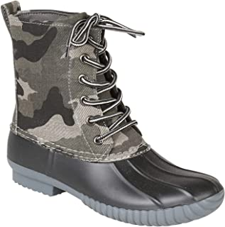 Rosetta Lace-Up Rain Boots - Mid-Calf Duck Boots - Camo or Floral Print