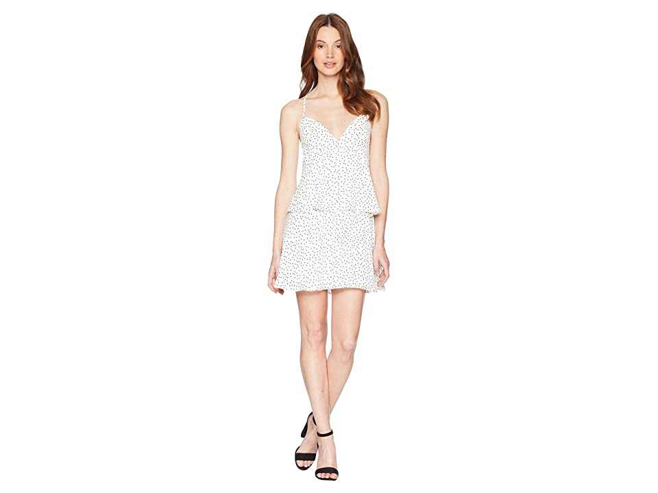 Bardot Spotty Tier Dress (Orchid White) Women