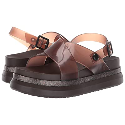 Melissa Shoes Cosmic Sandal + Away To Mars (Brown Clear) Women