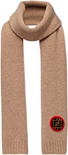 Fendi Men's Wool Cashmere Rectangular Scarf Brown