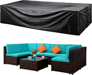 Patio Furniture Set Cover Outdoor Sectional Sofa Set Covers Patio Conversation Set Cover Outdoor Table and Chair Set Covers Water Resistant Large 98