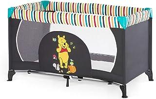 Hauck Disney Reisebett Dream N Play / für Babys und Kinder ab Geburt bis 15 kg / 120 x 60 cm / Leicht / Kompakt Faltbar / Inkl. Trage Tasche / Winnie the Pooh / Schwarz