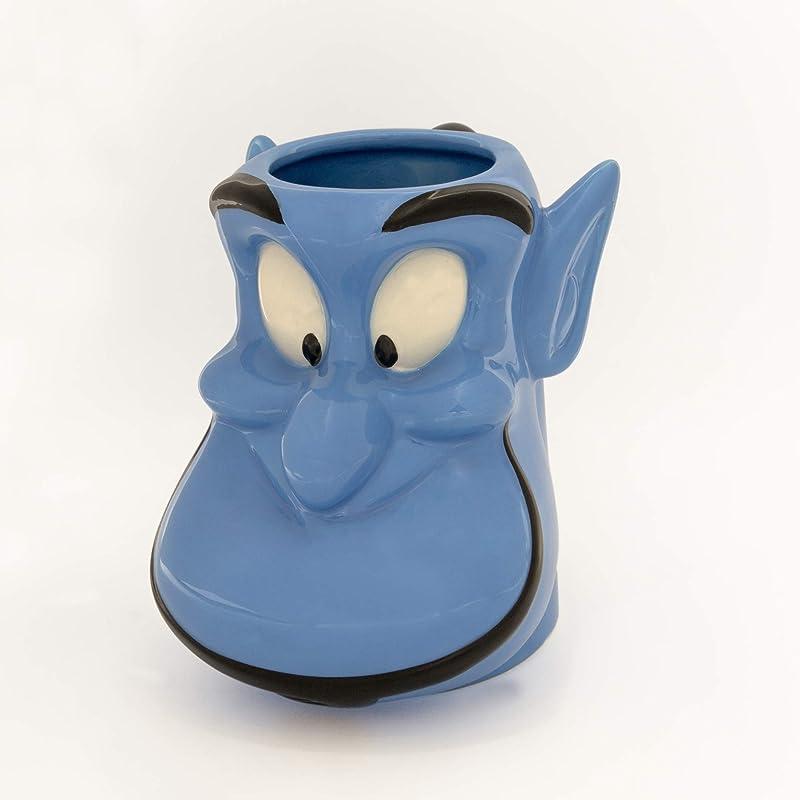 Silver Buffalo DIS3043D Disney Aladdin Genie Face Ceramic 3D Sculpted Mug 20 Ounce 22 Blue