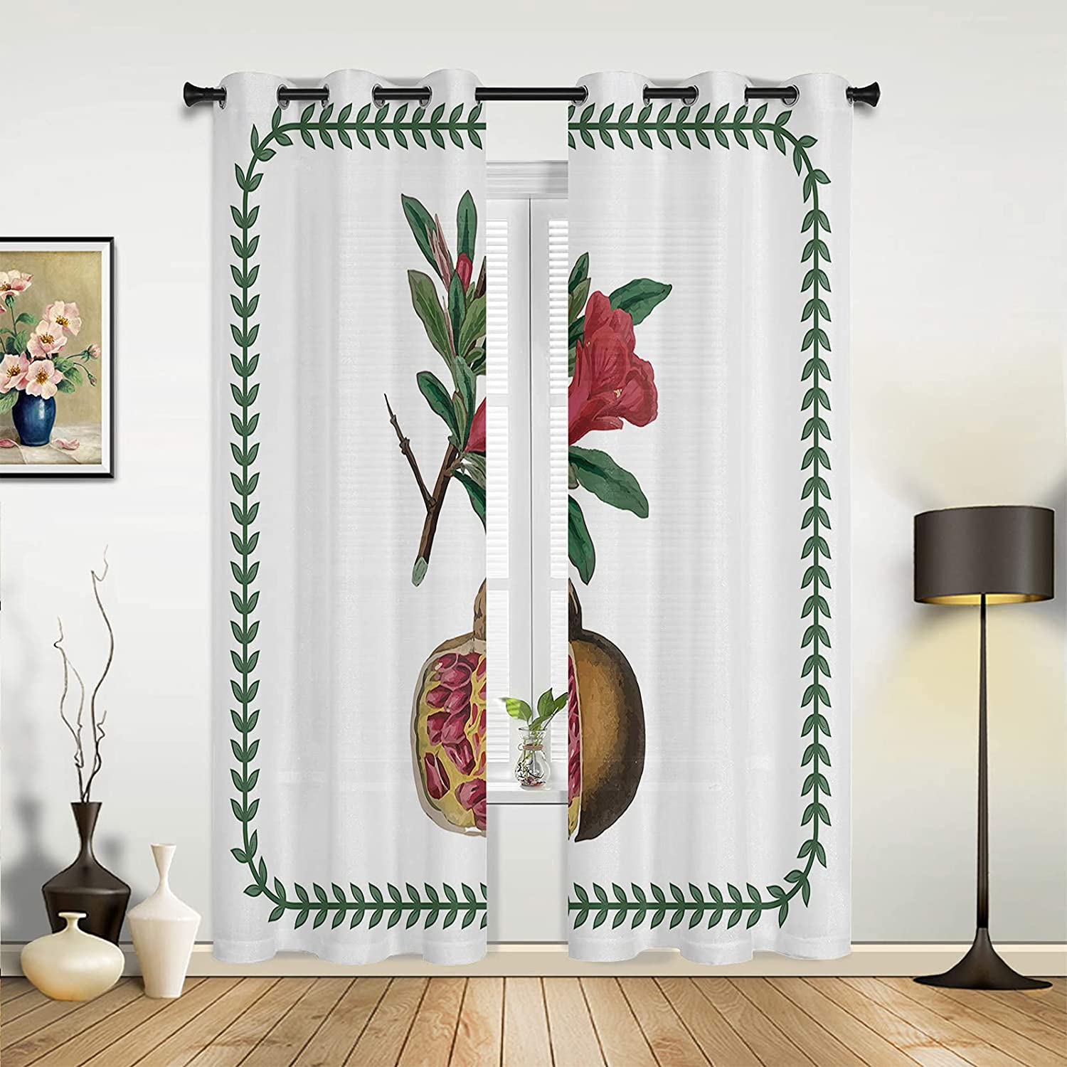 Window Challenge the lowest price of Japan Ranking TOP6 Sheer Curtains for Bedroom Living Room Pomegranate Fresh