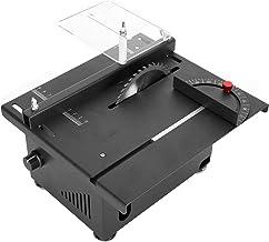 Mini sierra de mesa, multifunción, mini sierras de mesa de precisión, velocidad ajustable, ajuste de ángulo de 0 ° -90 °, profundidad de corte de 40 mm, herramientas de corte(Enchufe de la UE)