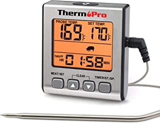 ThermoPro TP16S Termometro Cucina Digitale Termometri da Carne Accurato per Cottura Alimenti Forno BBQ Grigliare con modal...