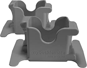 MyBuckleMate Seat Belt Buckle Holder ~ Makes Buckling Easier for Tots to Adults (Gray)