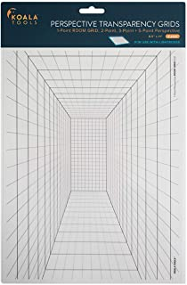"""Koala Tools   Perspective Grid Transparency Sheets (Variety Pack of 4) - 8.5"""" x 11""""   Overhead Projector and Light Box Tra..."""