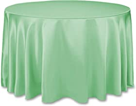 LinenTablecloth Round Tablecloth 108 Inch Hemlock