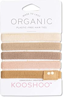 BIODEGRADABLE HAIR TIES in BLOND | Plastic-Free, Certified Organic Cotton Hair Elastics for Blonde, Gray and White Hair (Blond)