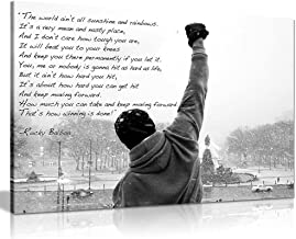 Rocky Canvas Print Hope Quote Canvas Wall Art Picture Print (36x24in)