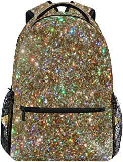 Women/Man Canvas Backpack Special Beautiful Colorful Sparkle Zipper College School Bookbag Daypack Travel Rucksack Gym Bag For Youth