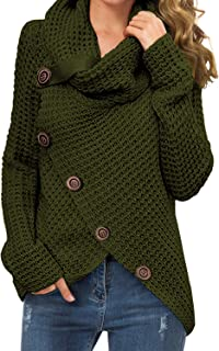 JXG Men Ribbed Knit Pullover Turtleneck Knit Sweater Blouse Top