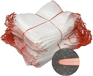 Fruit Protection Bags,100Pcs Nylon Net Barrier Bag Garden Netting Bags Insects Mosquito Bug Net Barrier Bag with Drawstrin...