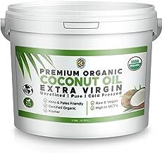 Premium Ultra Pure UNREFINED Organic Extra Virgin Coconut Oil - Cold Pressed, Gluten-Free, Keto & Paleo Friendly - Organic...