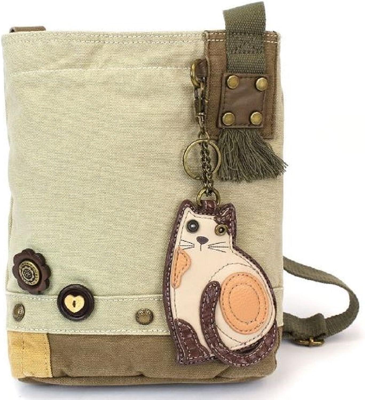 Chala Handbag Patch Crossbody LAZZY CAT Bag in Sand Brown