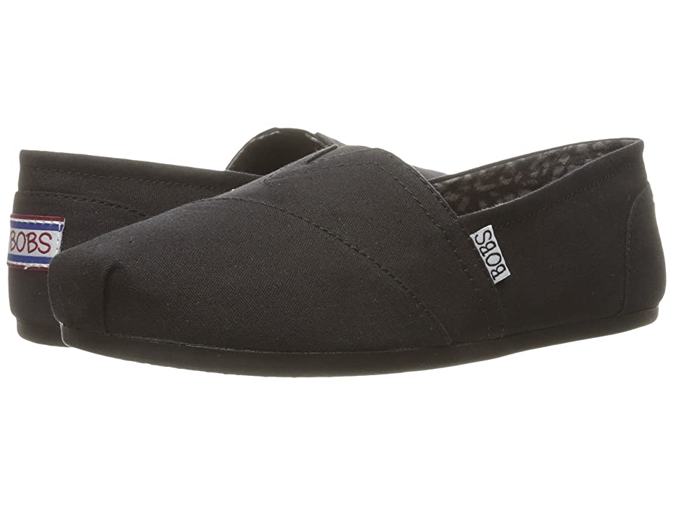 BOBS from SKECHERS Bobs Plush Peace and Love (Black) Women