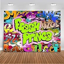 Mehofoto The Fresh Prince Backdrop Hip Pop Graffiti Background 7x5ft Vinyl Fresh Prince Hip Pop Neon Glow Party Banner Backdrops