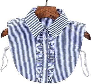 LAVALINK Collar Falso Desmontable Cuello De La Blusa La Mitad De Camisas Collar Falso De Bricolaje De La Blusa De Ropa De ...