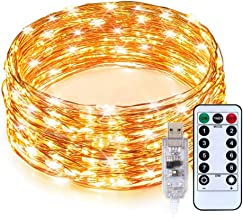 Gavenia Lights 33ft with 100 LEDs, Waterproof Copper Wire Lights, Outdoor & Indoor Decorative Fairy Lights for Bedroom, Pa...