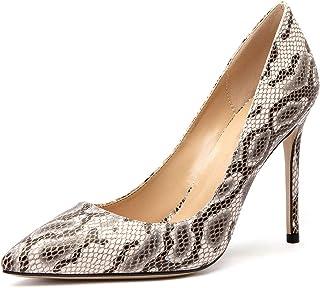 CASTAMERE Escarpins Femme Mode Bout Pointu Aiguille Talon 10CM Heels