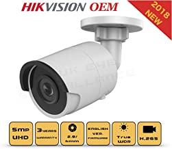 6MP PoE Security IP Camera - Compatible as Hikvision DS-2CD2063G0-I Night Vision Bullet Onvif IR Weatherproof 2.8mm Lens Best for Home and Business Security, 3 Year Warranty