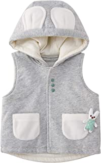 pureborn Baby Warm Hooded Jacket Vests, Unisex Infant to Toddler Winter Waistcoat
