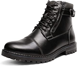 Bruno Marc Men's Motorcycle Combat Ankle Boots Engle-01