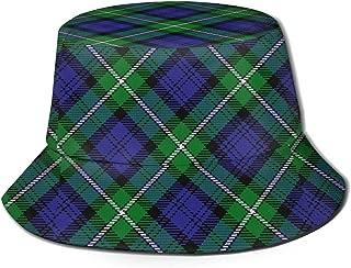 Scots Style Clan Forbes Tartan Plaid Unisex Printing Bucket Hat Pattern Fisherman Hats Summer Reversible Packable Cap Women Men Girl Boy Black