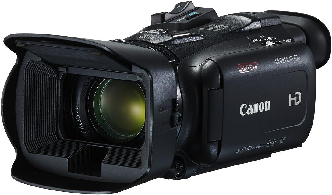 Canon LEGRIA HF G26 - Videocámara de 3.09 MP (Full HD 1080 CMOS HD Zoom óptico 20x Pantalla táctil de 3.0 Slow Fast Motion Wide DR Gamma Abertura de 8 Hojas) Negro
