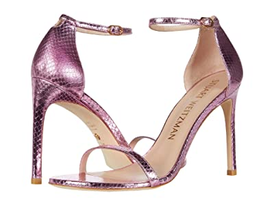 Stuart Weitzman Nudistsong (India Pink Mini Printed Metallic Snake) High Heels