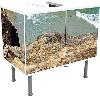 wandmotiv24 Mueble de baño Costa. Galicia, España Pegado