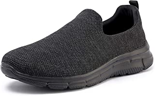FRANK MULLY Men's Slip On Walking Shoes Lightweight Casual Flyknit Fashion Sneakers Comfortable Work Shoes Athletic Walking Shoes for Men