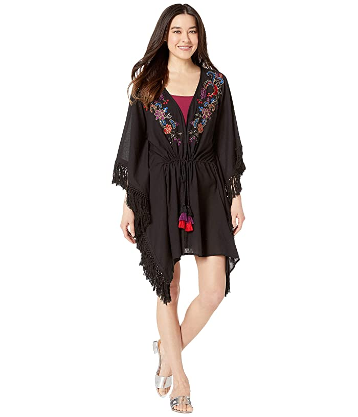 Miraclesuit Amoressa by Miraclesuit Indochine Camille Beach Wrap Cover-Up (Black/Multi) Women
