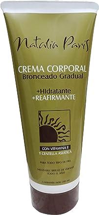 Amazon.com : Natalia Paris Self Tanner Tanning Cream Lotion   Gradual Bronzer Firming Moisturizing Self Tanning Centella Vitamin E Gel SPF 2 Autobronceador ...
